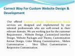 correct way for custom website design development 4