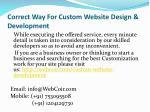 correct way for custom website design development 5
