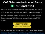 wwe tickets available for all events