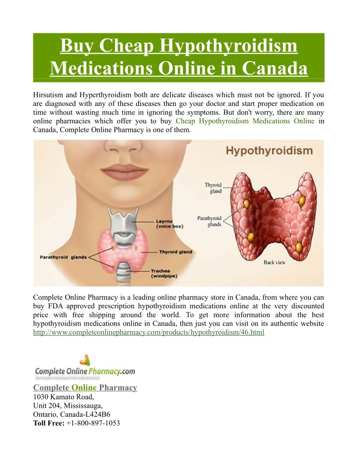 buy cheap hypothyroidism medications online n.