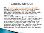 generic division