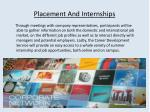 placement and internships