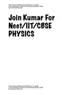 neet mcq s from kumar physics classes