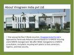 about virogreen india pvt ltd