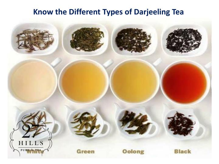 know the different types of darjeeling tea n.
