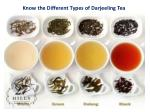 know the different types of darjeeling tea