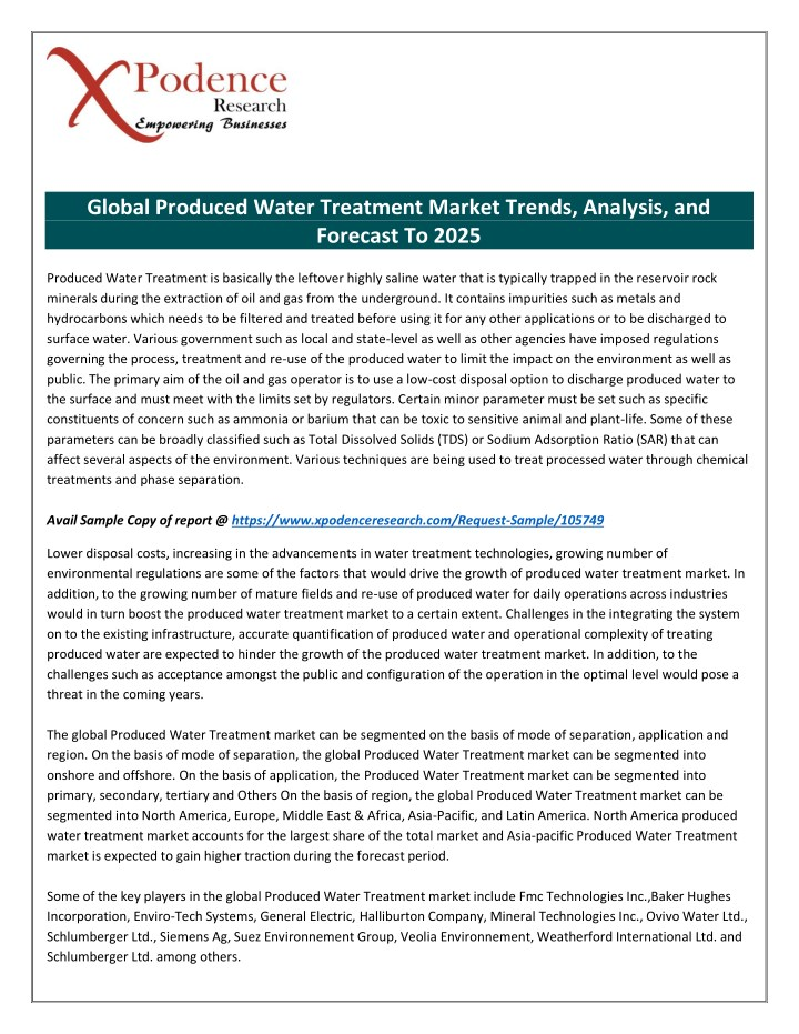 global produced water treatment market trends n.