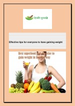 effective tips for everyone to have gaining weight