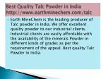 best quality talc powder in india http www earthminechem com talc 1