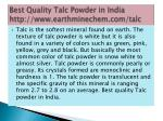 best quality talc powder in india http www earthminechem com talc 3
