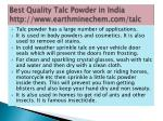 best quality talc powder in india http www earthminechem com talc 4