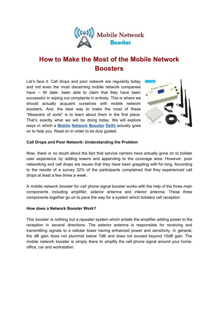 how to make the most of the mobile network n.