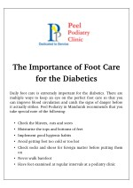 the importance of foot care for the diabetics