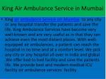 king air ambulance service in mumbai
