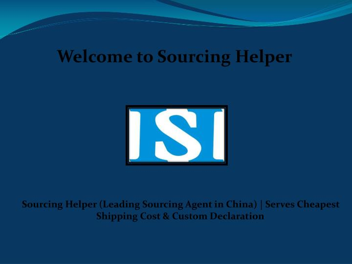 welcome to sourcing helper n.