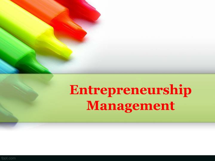 entrepreneurship management n.