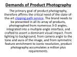 demands of product photography