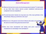 general management q1 what are the barriers