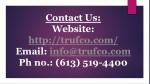contact us website http trufco com email