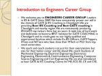 introduction to engineers career group