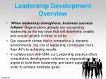 leadership development overview