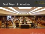 best resort in amritsar