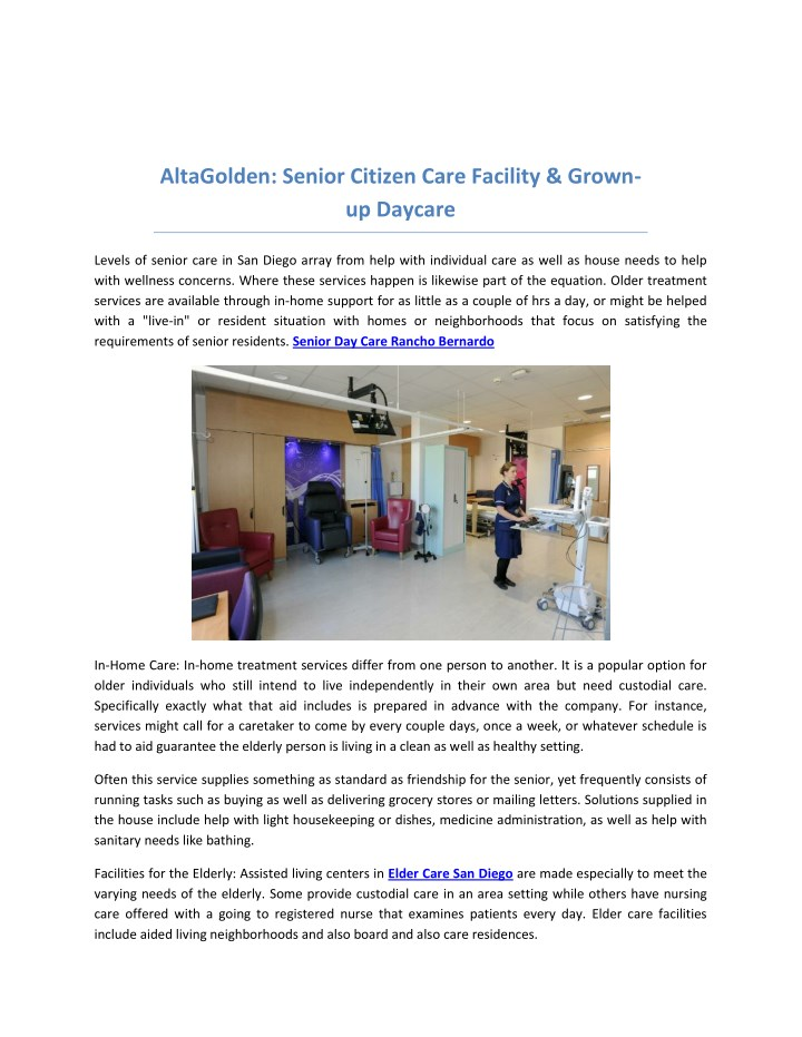 altagolden senior citizen care facility grown n.