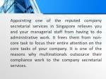 appointing one of the reputed company secretarial