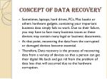 concept of data recovery