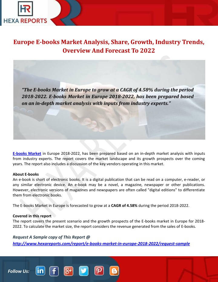 europe e books market analysis share growth n.