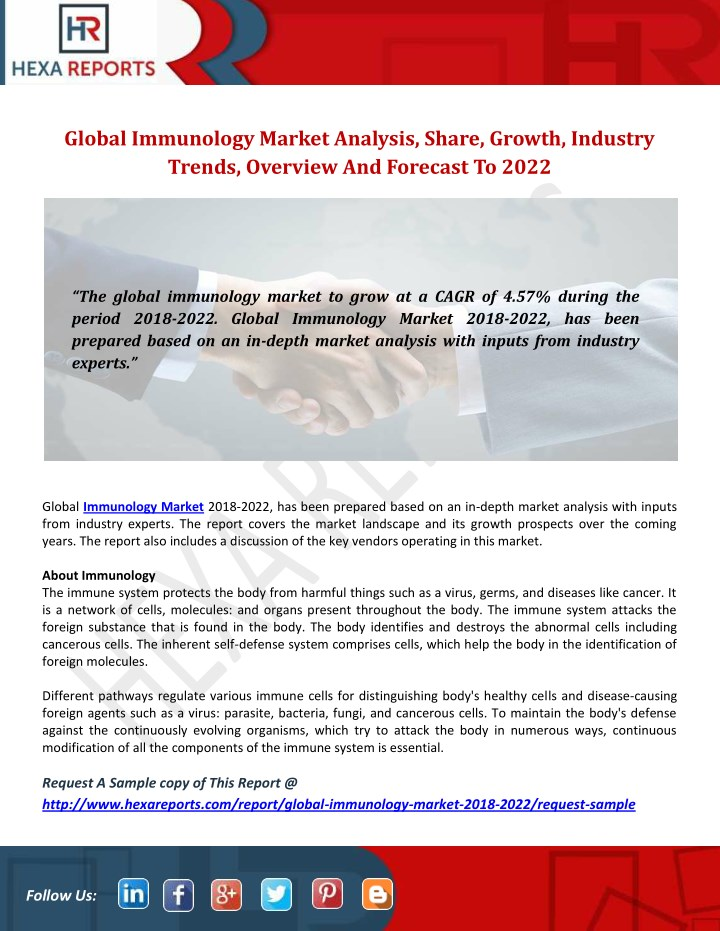 global immunology market analysis share growth n.