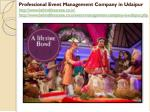 professional event management company in udaipur 2