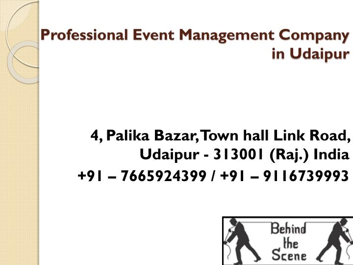 professional event management company in udaipur n.