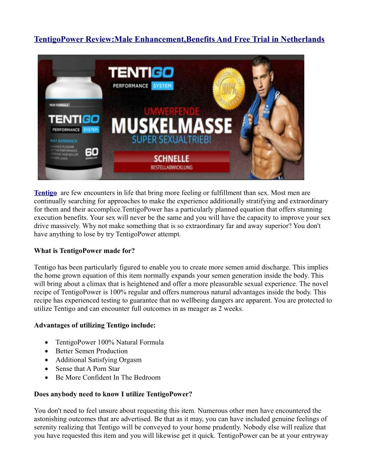 tentigopower review male enhancement benefits n.