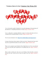 valentines quotes for him valentine s day wishes