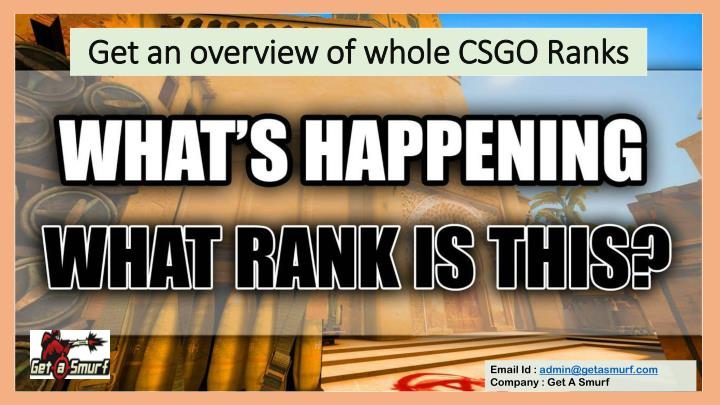 get an overview of whole csgo ranks n.