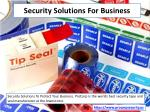 security solutions for business