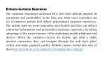 enhance customer experience the customer