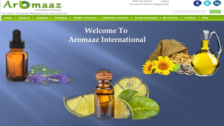 welcome to aromaaz international n.