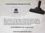 commercial steam cleaning in australia 1