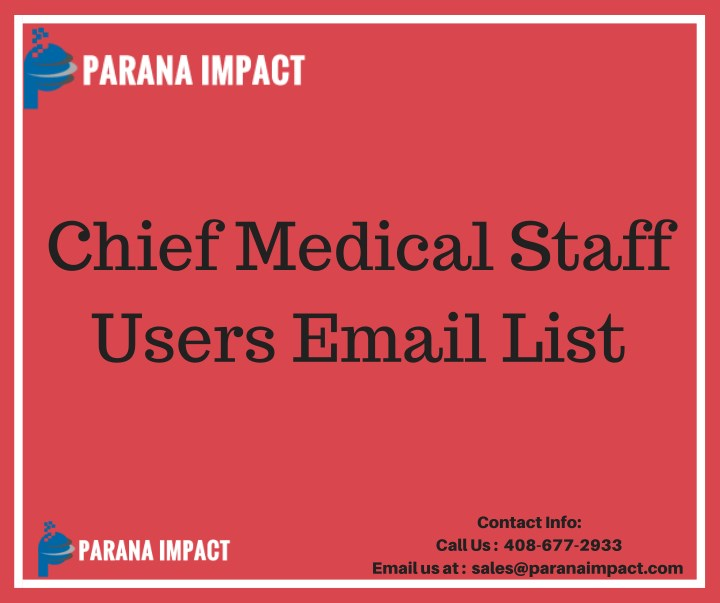 chief medical staff users email list n.