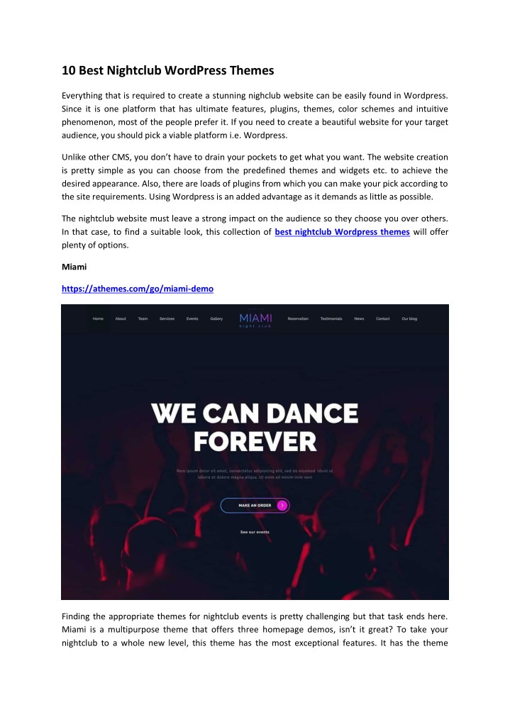 10 best nightclub wordpress themes n.