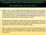 prepare for best hardwood floor installation in everett