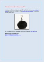 fashionable fur leather gloves pom pom key chains