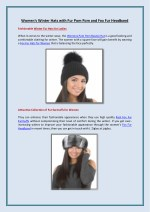 women s winter hats with