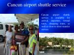 cancun airport shuttle service