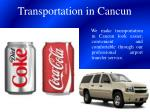 transportation in cancun