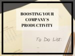 boosting your company s productivity