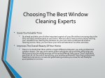 choosing the best window cleaning experts 1
