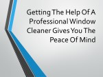 getting the help of a professional window cleaner